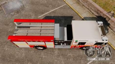 Firetruck FDLC [ELS] para GTA 4 vista direita
