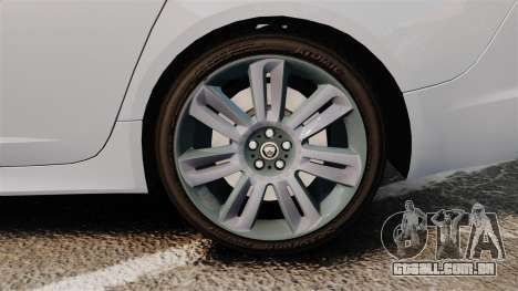 Jaguar XFR 2010 Police Unmarked [ELS] para GTA 4 vista de volta