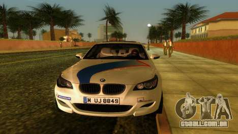 BMW M5 (E60) 2009 Nurburgring Ring Taxi para GTA Vice City vista interior