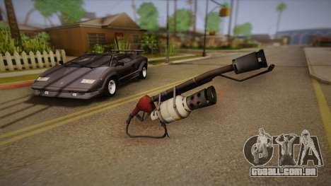 Lança-chamas de Team Fortress para GTA San Andreas