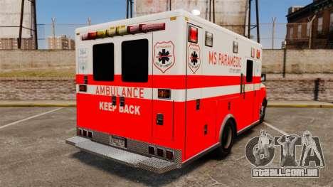Brute Ambulance FDLC [ELS] para GTA 4 traseira esquerda vista