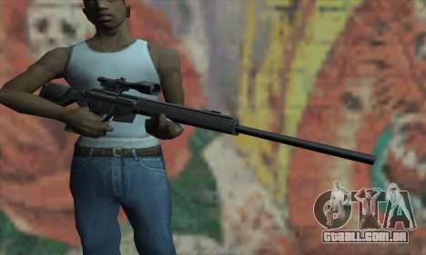 PSG-1 para GTA San Andreas terceira tela
