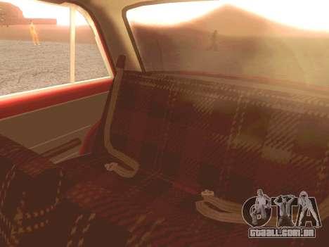 Fiat 124 para GTA San Andreas vista superior