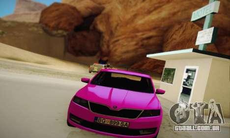 Skoda Rapid 2014 para GTA San Andreas vista traseira