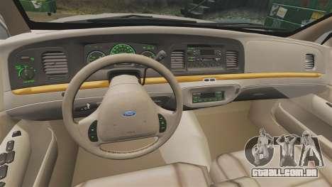 Ford Crown Victoria 1999 para GTA 4 vista de volta
