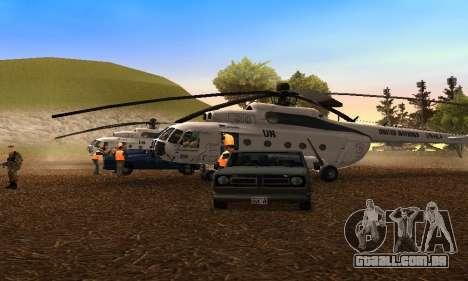 MI 8 das Nações Unidas (ONU) para GTA San Andreas esquerda vista