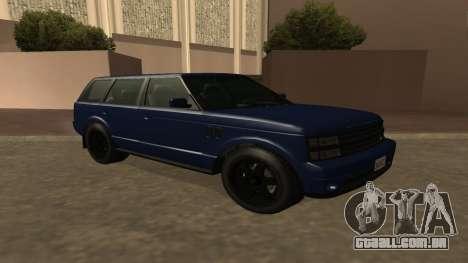 Baller GTA 5 para GTA San Andreas vista traseira