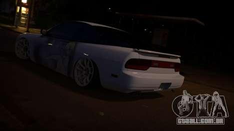 Nissan 180sx Itasha para GTA San Andreas traseira esquerda vista