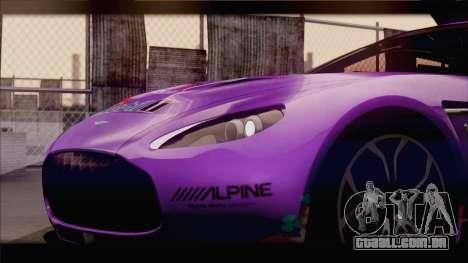 Aston Martin V12 Zagato 2012 [IVF] para as rodas de GTA San Andreas
