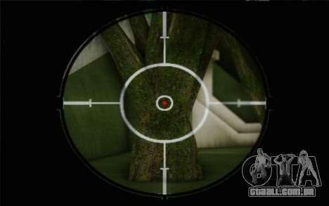fuzil 7,62 Dragunov SVD-s para GTA San Andreas por diante tela