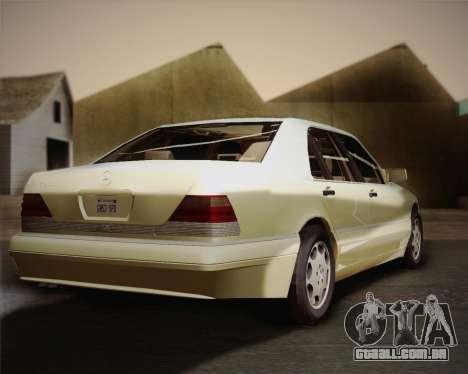 Mercedes-Benz S600 V12 Custom para GTA San Andreas vista traseira