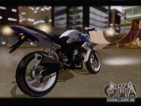 Honda CB150R StreetFire para GTA San Andreas traseira esquerda vista