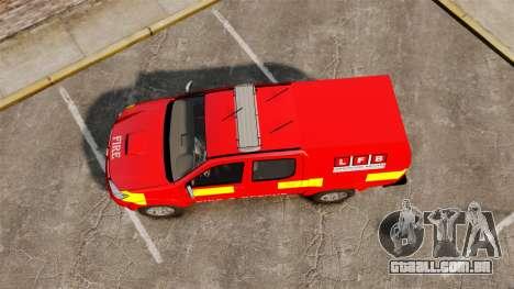 Toyota Hilux London Fire Brigade [ELS] para GTA 4 vista direita