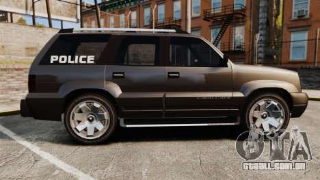 Cavalcade Police para GTA 4 esquerda vista
