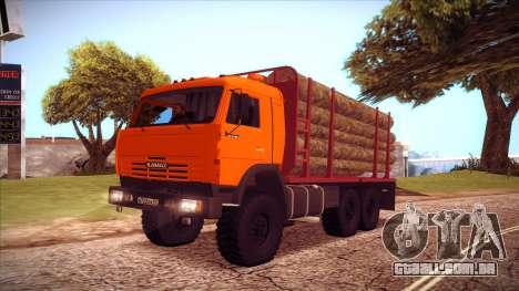 Transportador de madeira 54115 KAMAZ para GTA San Andreas