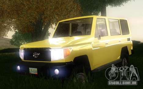 Toyota Land Cruiser Machito 2013 6Puertas 4x4 para GTA San Andreas