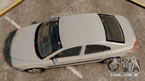 Volvo S60R para GTA 4 vista direita