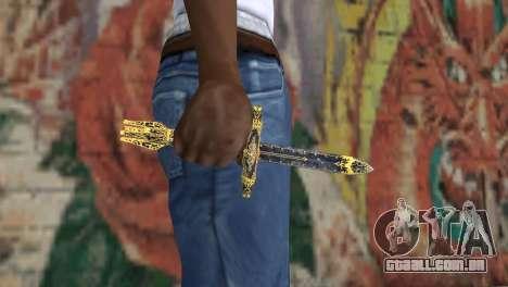 A lâmina de desgraças de TES 4 para GTA San Andreas terceira tela