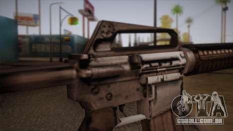 M4 de Max Payne para GTA San Andreas por diante tela
