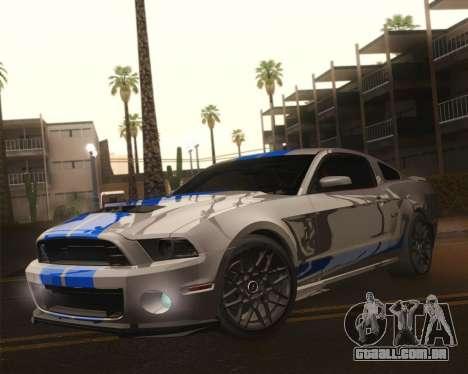 Ford Shelby GT500 2013 para GTA San Andreas vista inferior