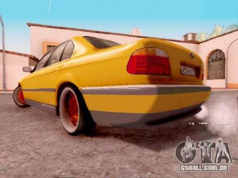 BMW 730i para GTA San Andreas traseira esquerda vista