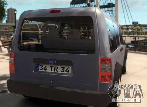 Ford Transit Connect para GTA 4 esquerda vista