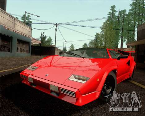 Lamborghini Countach LP500 Quattrovalvole 1988 para GTA San Andreas traseira esquerda vista