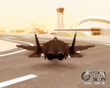 Su-47 Berkut v 1.0 para GTA San Andreas vista interior