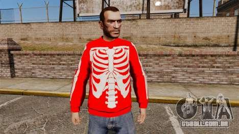 Camisola vermelha-esqueleto - para GTA 4