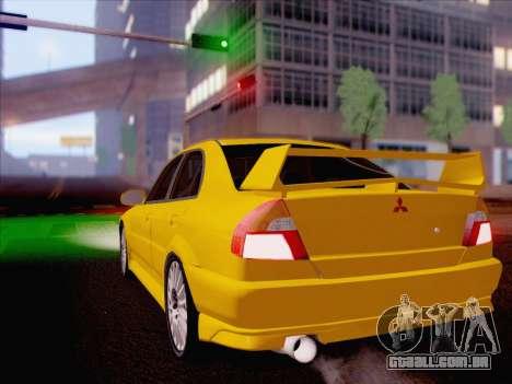 Mitsubishi Lancer Evolution VI LE para GTA San Andreas esquerda vista