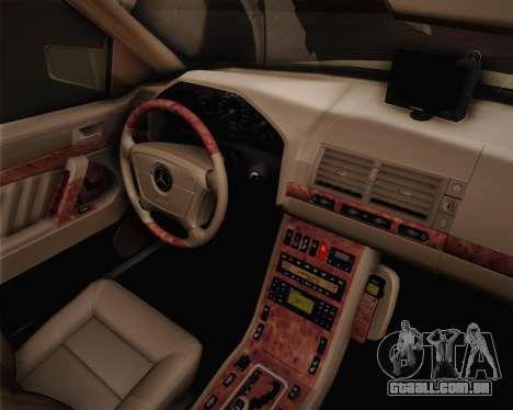 Mercedes-Benz S600 V12 Custom para GTA San Andreas vista direita