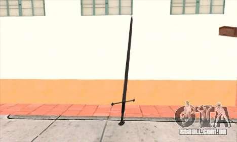 Sword Narsil para GTA San Andreas segunda tela