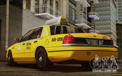 Ford Crown Victoria LA Taxi para GTA San Andreas vista interior