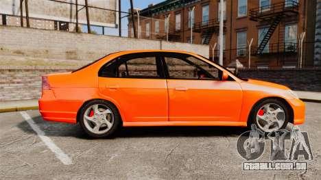 Honda Civic VTEC para GTA 4 esquerda vista