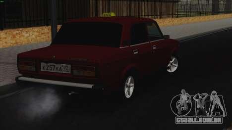 VAZ 2107 Bombilla para GTA San Andreas traseira esquerda vista