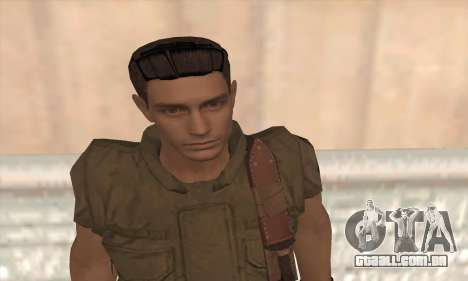 Chris Redfield v2 para GTA San Andreas terceira tela