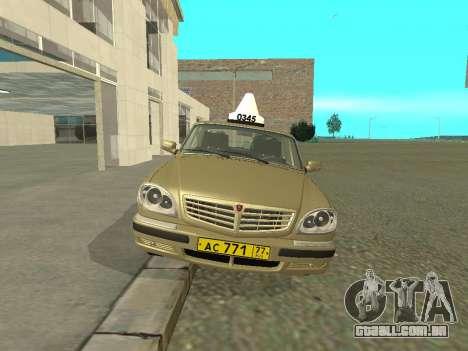 Táxi de 31105 Volga GAZ para GTA San Andreas esquerda vista
