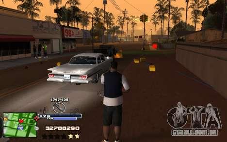 C-HUD Into para GTA San Andreas terceira tela