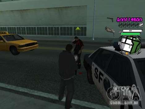 HUD para GTA San Andreas por diante tela
