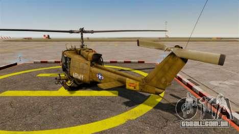 Bell UH-1 Iroquois v2.0 Gunship [EPM] para GTA 4 traseira esquerda vista