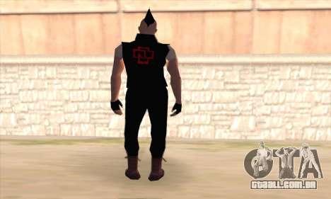 Till Lindemann para GTA San Andreas segunda tela