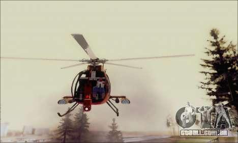 Helicóptero de ataque do abutre de GTA 5 para vista lateral GTA San Andreas