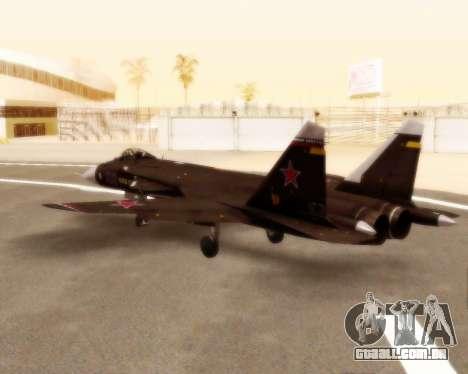 Su-47 Berkut v 1.0 para GTA San Andreas vista traseira