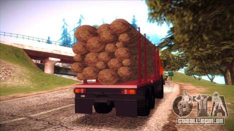 Transportador de madeira 54115 KAMAZ para GTA San Andreas vista direita