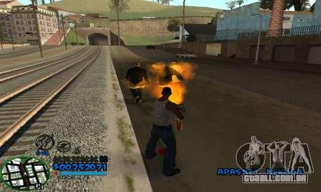 C-HUD CutHot para GTA San Andreas segunda tela