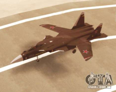 Su-47 Berkut v 1.0 para GTA San Andreas