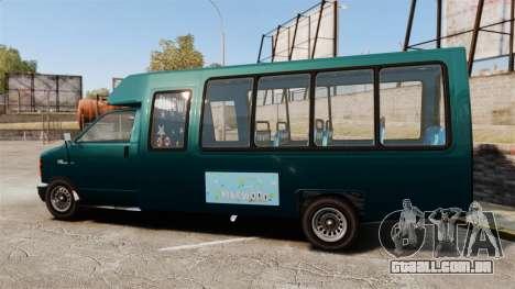 GTA V Brute Tour Bus para GTA 4 esquerda vista