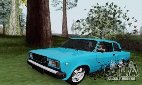 VAZ 2107 Coupe para GTA San Andreas esquerda vista