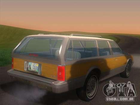 Oldsmobile Cutlass Ciera Cruiser para GTA San Andreas esquerda vista
