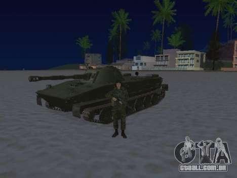 PT-76 para GTA San Andreas traseira esquerda vista
